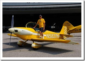 Perry Burford dressed for the RV-1